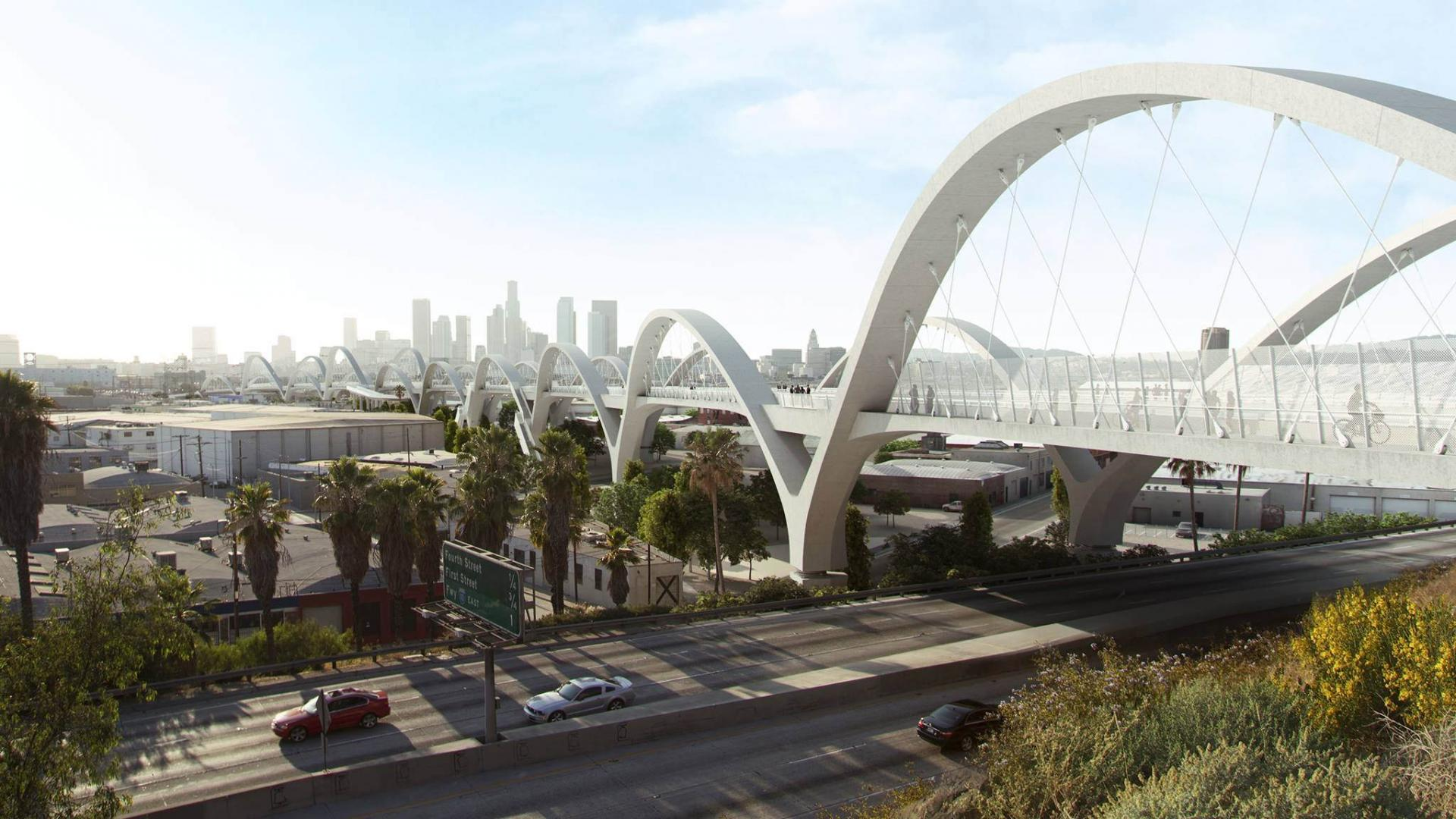 rendering of the new sixth street viaduct