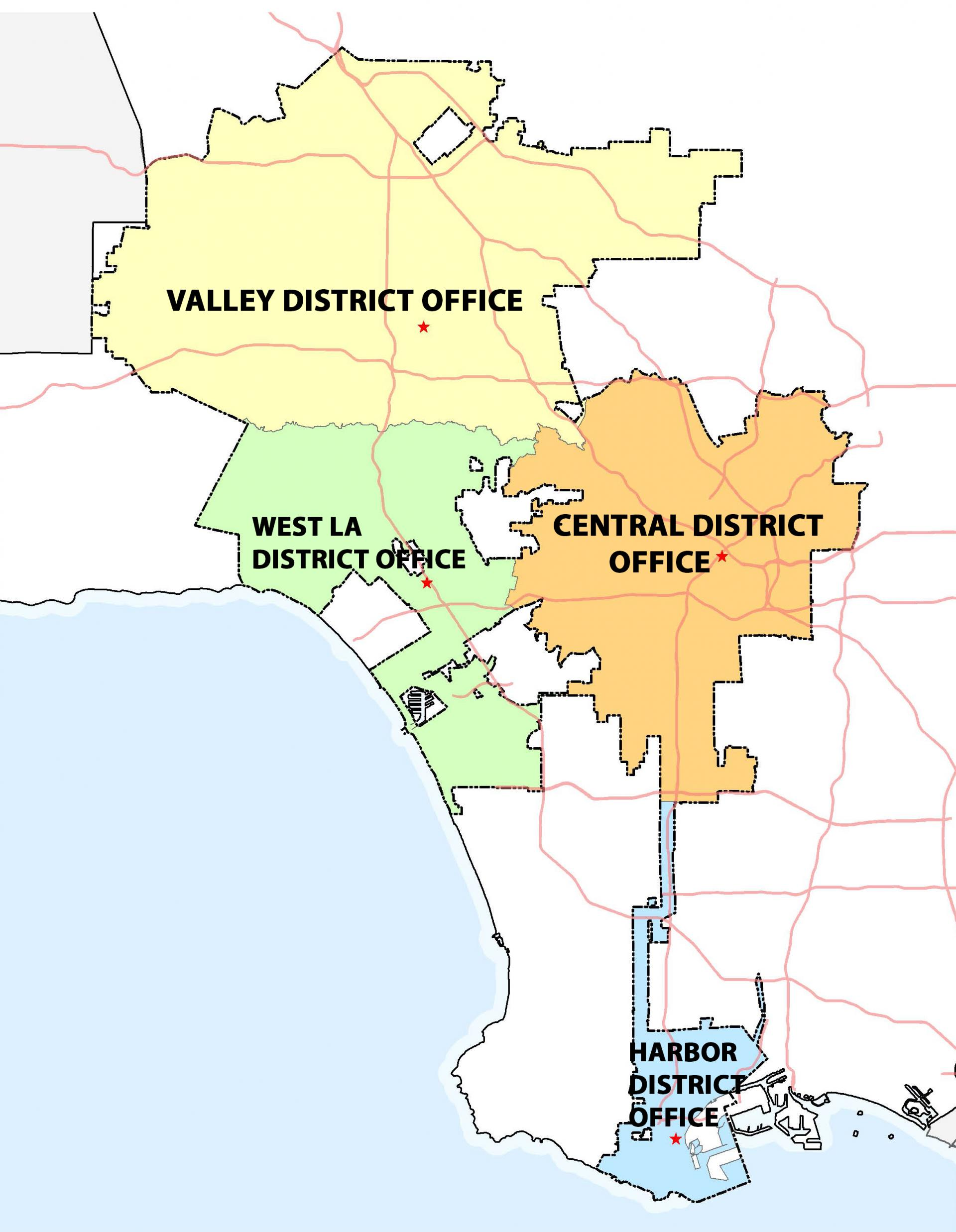 Engineering District Office Locations Map