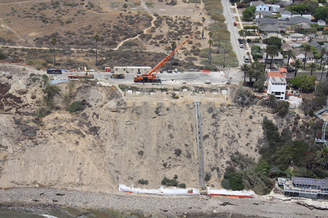 bird's eye view of White Point Landslide